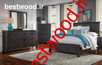 خرید سرویس خواب دونفره چوبی