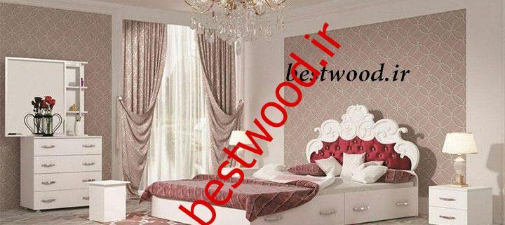قیمت سرویس خواب دو نفره چوبی